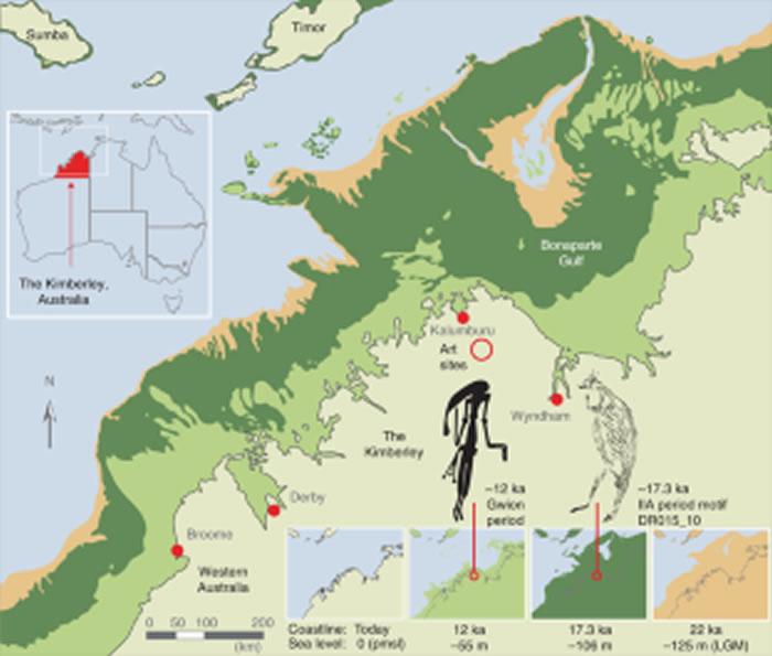 《自然人类行为》:澳大利亚发现1.73万年前袋鼠岩画