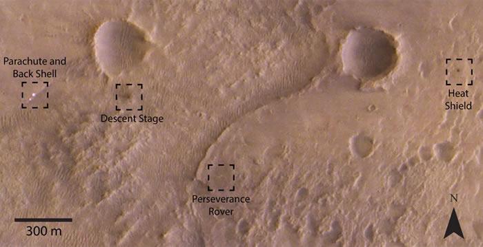 "ExoMars拍下""毅力号""探测器着陆火星后的图像"