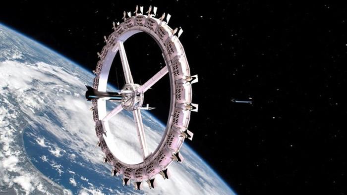 """美国太空建设公司宣布从2025年开始在近地轨道建造全球首家太空饭店""""旅行者"""""""