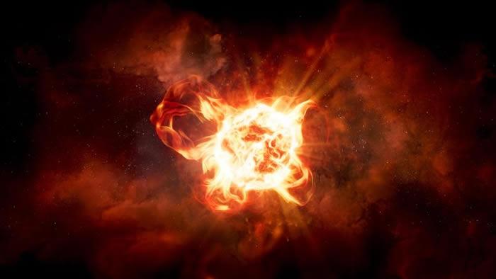 NASA新研究揭示红色超巨星大犬座VY(VY Canis Majoris)变暗的原因