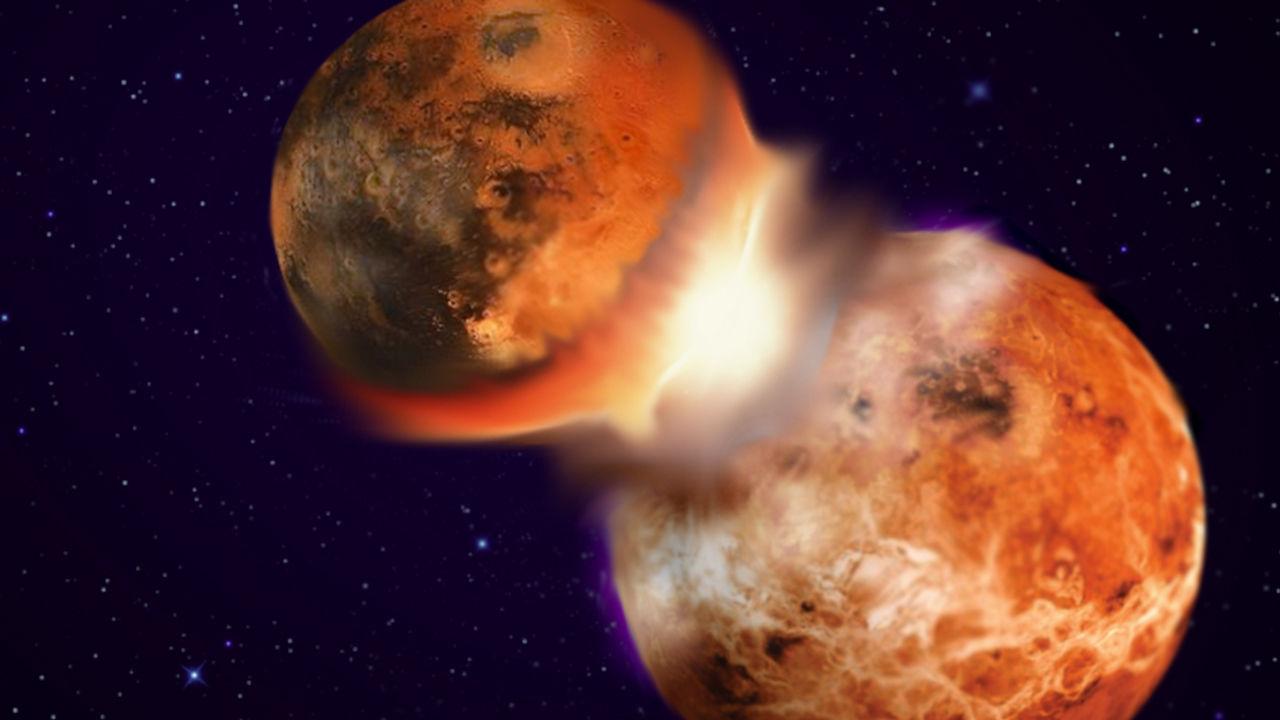 撞上地球产生月球的原行星或许就藏在地球深处