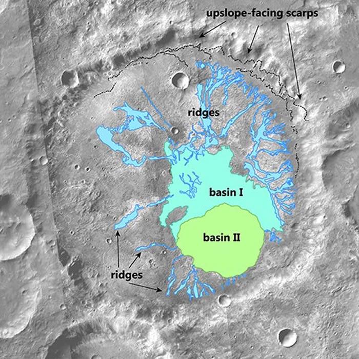 布朗大学研究人员在火星发现古代火山口湖泊 可能会揭示有关该星球早期气候的线索