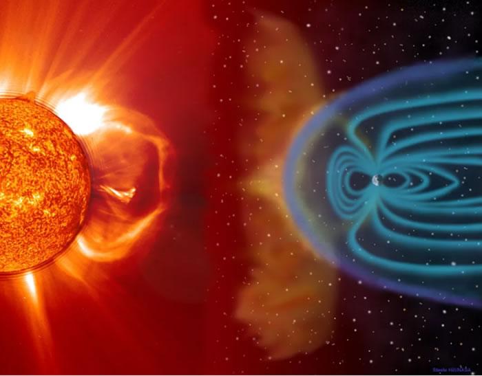 地球的磁场保护我们不受太阳风的影响,引导太阳粒子前往极地地区
