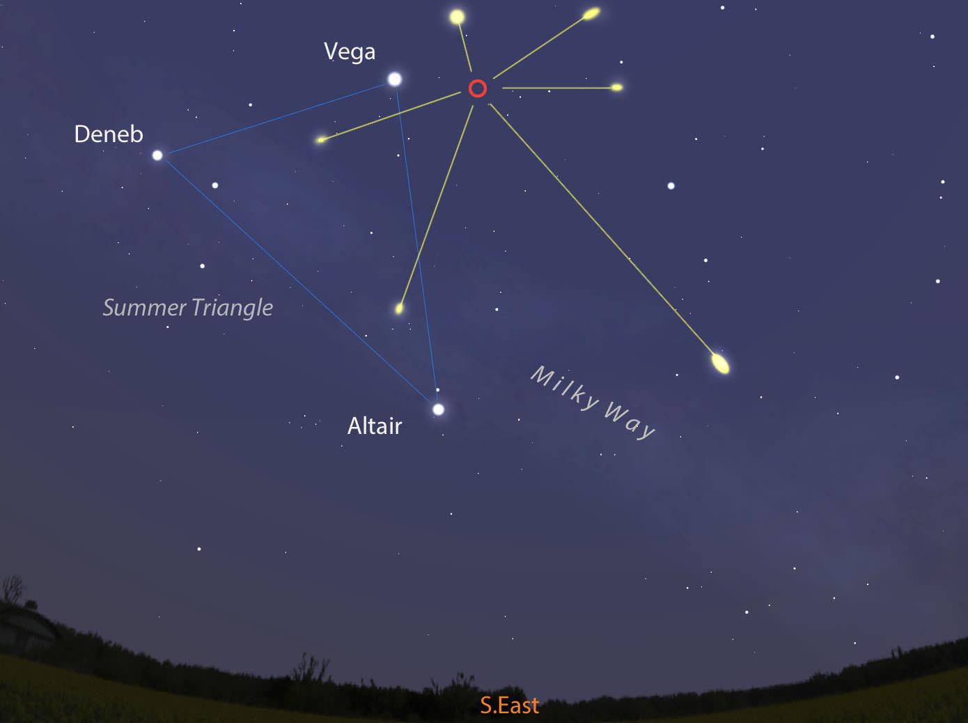 2021年4月22日天琴座流星雨极大期