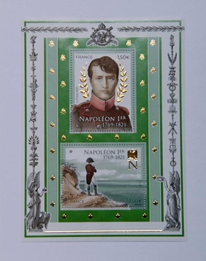 法国发行特制邮票纪念已故法兰西皇帝拿破仑一世逝世200周年