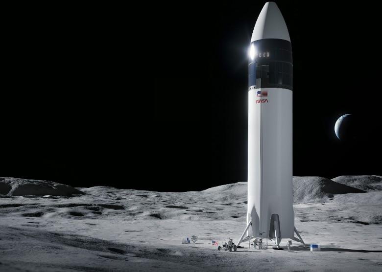 SpaceX负责开发载人太空船 最快2024年将两名美国宇航员送上月球表面
