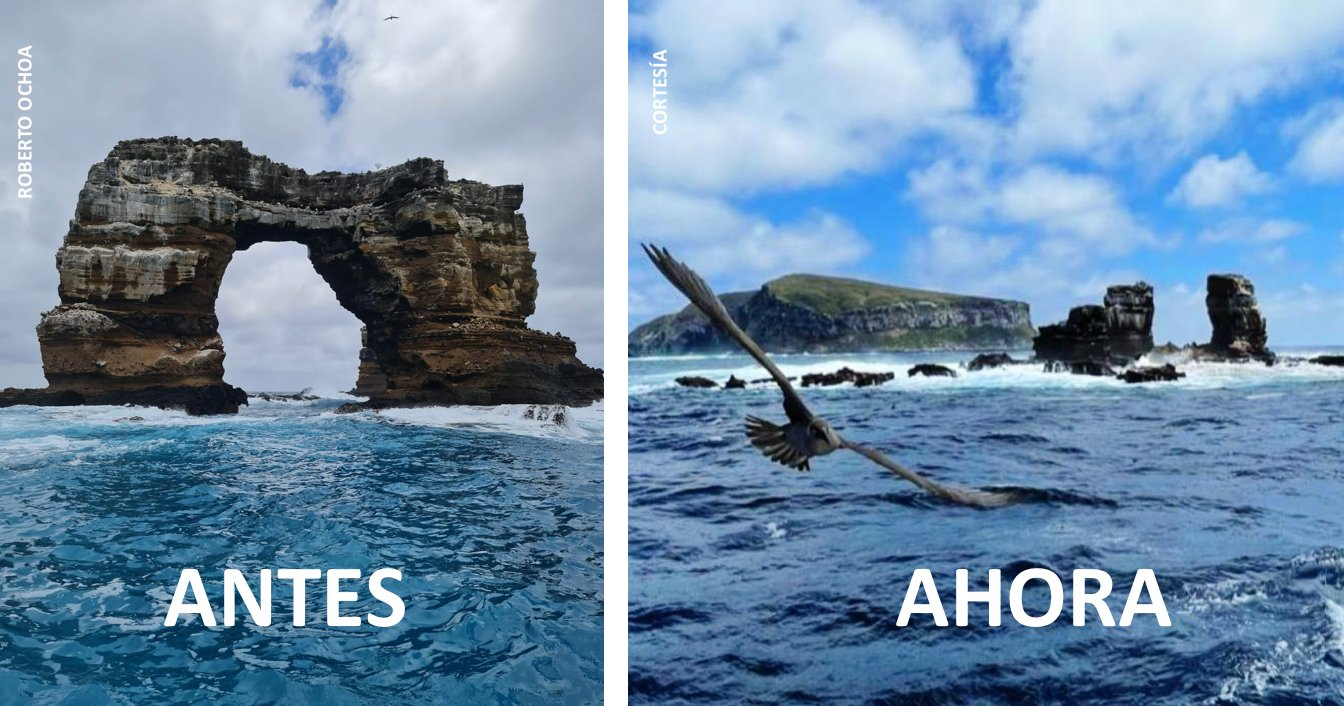 """加拉巴哥群岛世界遗产""""达尔文拱门""""坍塌"""