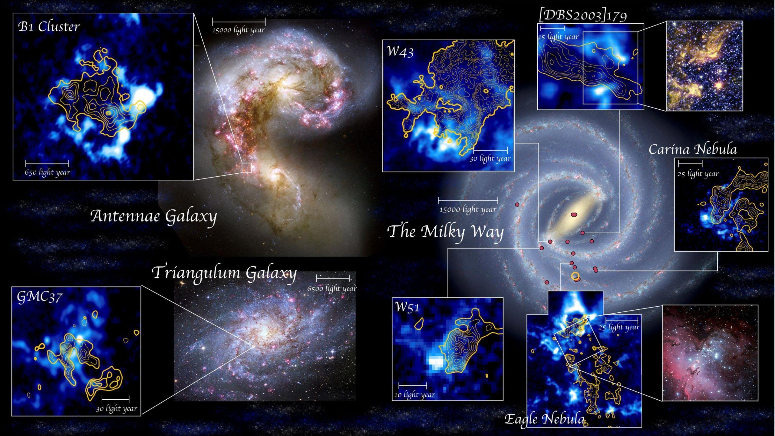 日本研究人员发现盘旋在太空中的气体云的碰撞带来了星团的诞生