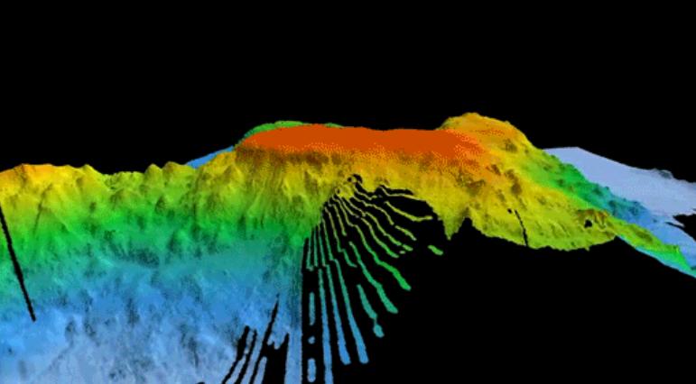"""澳大利亚科学家在圣诞岛附近发现古老的海底火山 看起来像《指环王》""""索伦之眼"""""""