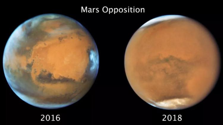 2018年6月沙尘暴事件使火星南半球的冬天突然提前结束