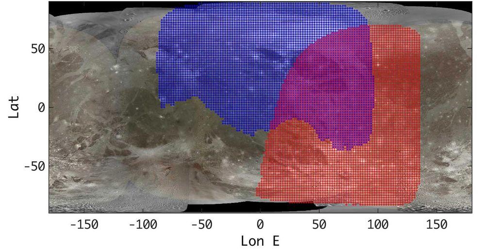 美国宇航局朱诺号航天器科学团队制作出木卫三(Ganymede)新红外图