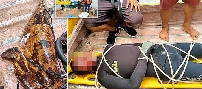 菲律宾渔夫钓到5公斤重石斑鱼 反被拖入湖中溺死