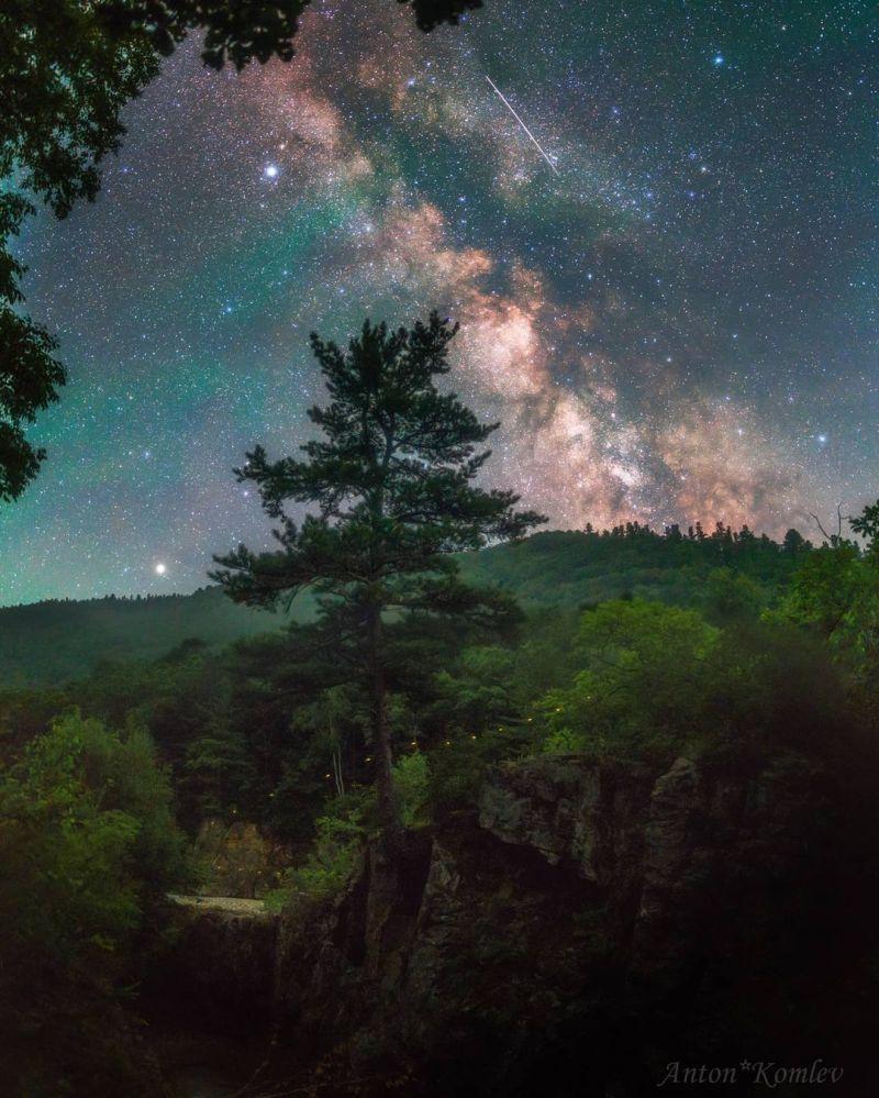 俄罗斯符拉迪沃斯托克市民拍的银河系照片给NASA留下深刻印象