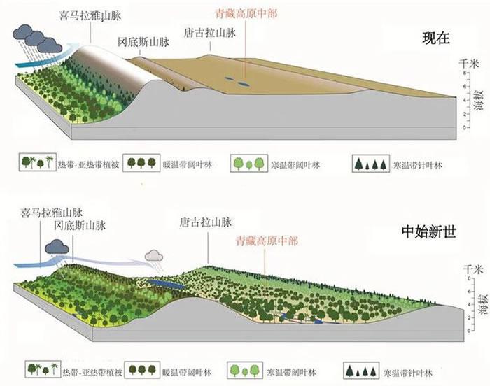 青藏高原地形演化示意图(供图:苏涛)