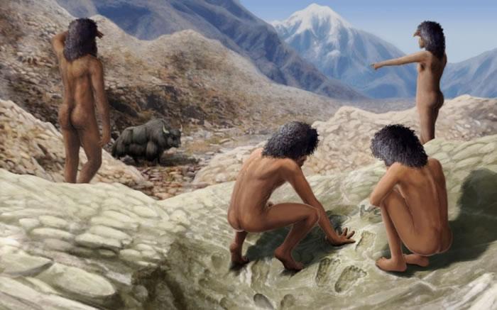 青藏高原发现世界最古老岩面艺术:西藏中更新世的古人类手足痕迹