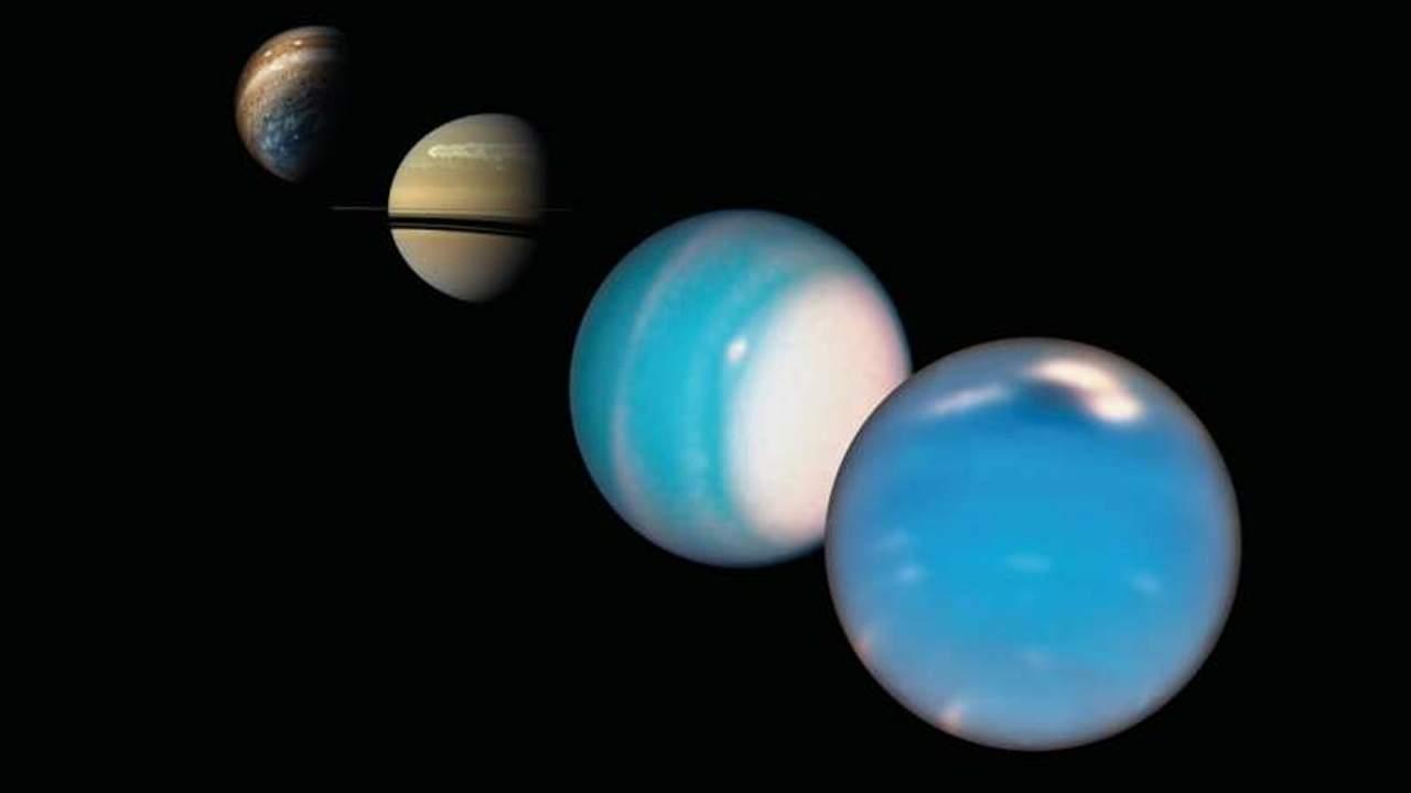 """新研究表明一种特殊的""""蘑菇球""""可能是将氨带入海王星和天王星大气层深处的原因"""